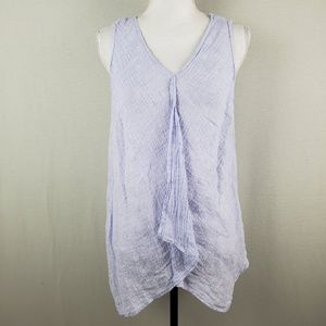 Linen Pure J.Jill Sleeveless Crinkle Tank Top